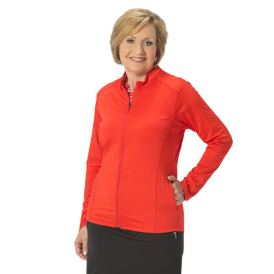 Nancy Lopez Jazzy Jacket Fiery Red