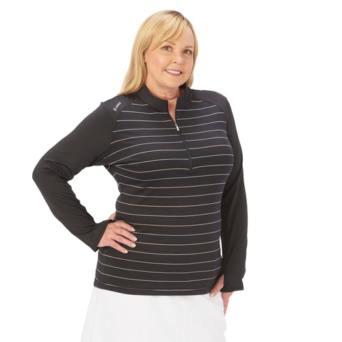 Nancy Lopez Joy Pullover Plus Black Multi