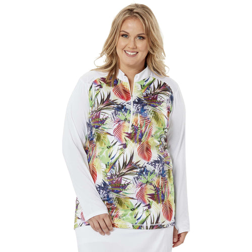 Nancy Lopez Joy Pullover Plus White Paradsie