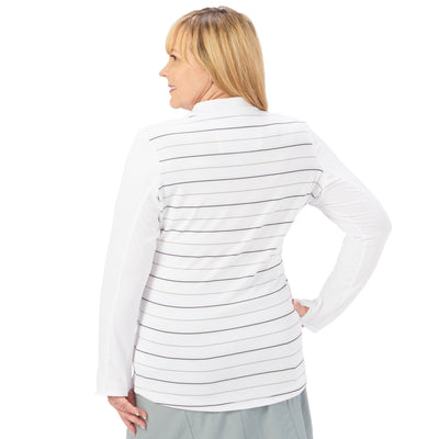 Nancy Lopez Joy Pullover Plus White Multi