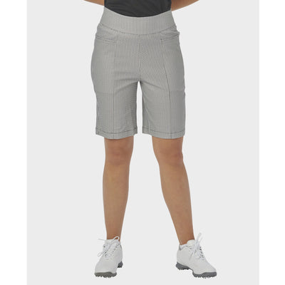 Nancy Lopez Golf Lace Print Pully Short White/Black