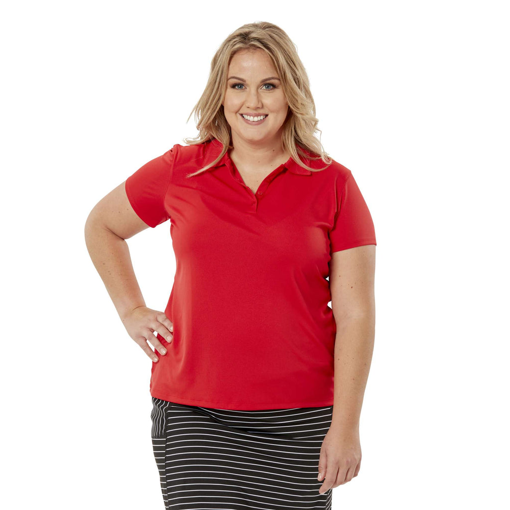 Nancy Lopez Legacy Short Sleeve Polo Cherry