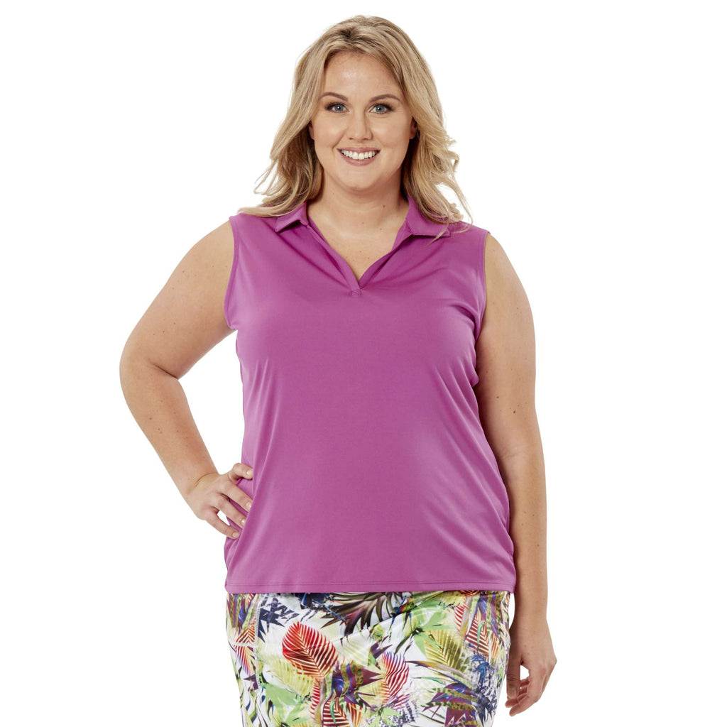 Nancy Lopez Legacy Sleeveless Polo Iris
