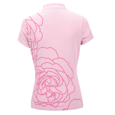 Nancy Lopez Plush Short Sleeve Polo Plus Cameo/Hot Pink