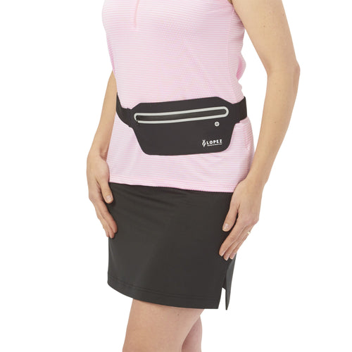 Nancy Lopez Golf Reflective Waist Pack Black