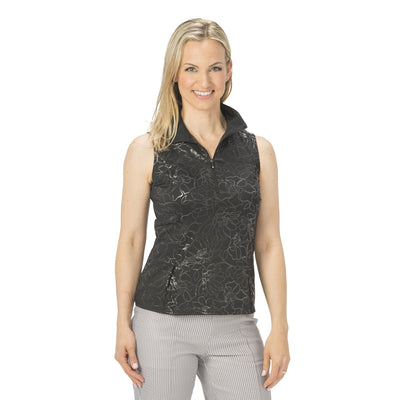 Nancy Lopez Shine Sleeveless Polo Black
