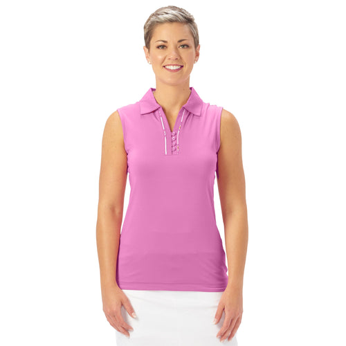 Nancy Lopez Golf Subtle Sleeveless Polo Hot Pink Multi