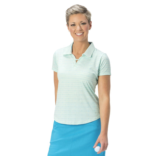 Nancy Lopez Tempo Short Sleeve Polo Mist Multi