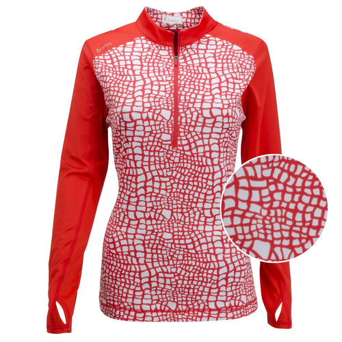 Nancy Lopez Joy Pullover Fiery Red/White