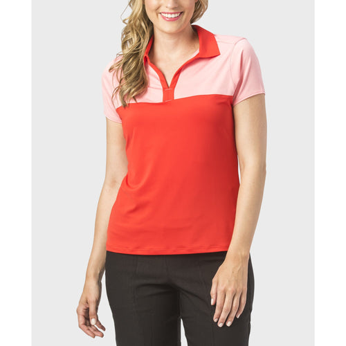 Nancy Lopez Pursuit Short Sleeve Polo Fiery Red/Flamingo