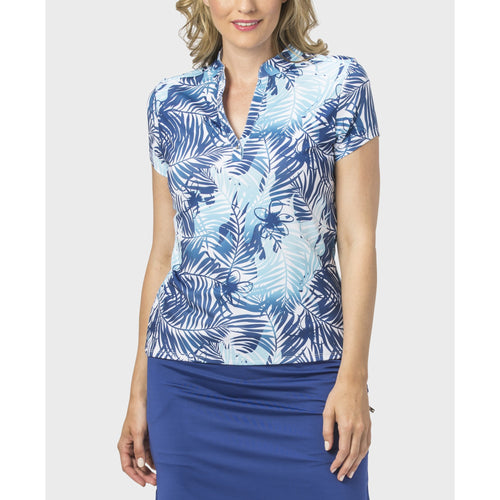 Nancy Lopez Tropic Short Sleeve Polo Twilight Multi