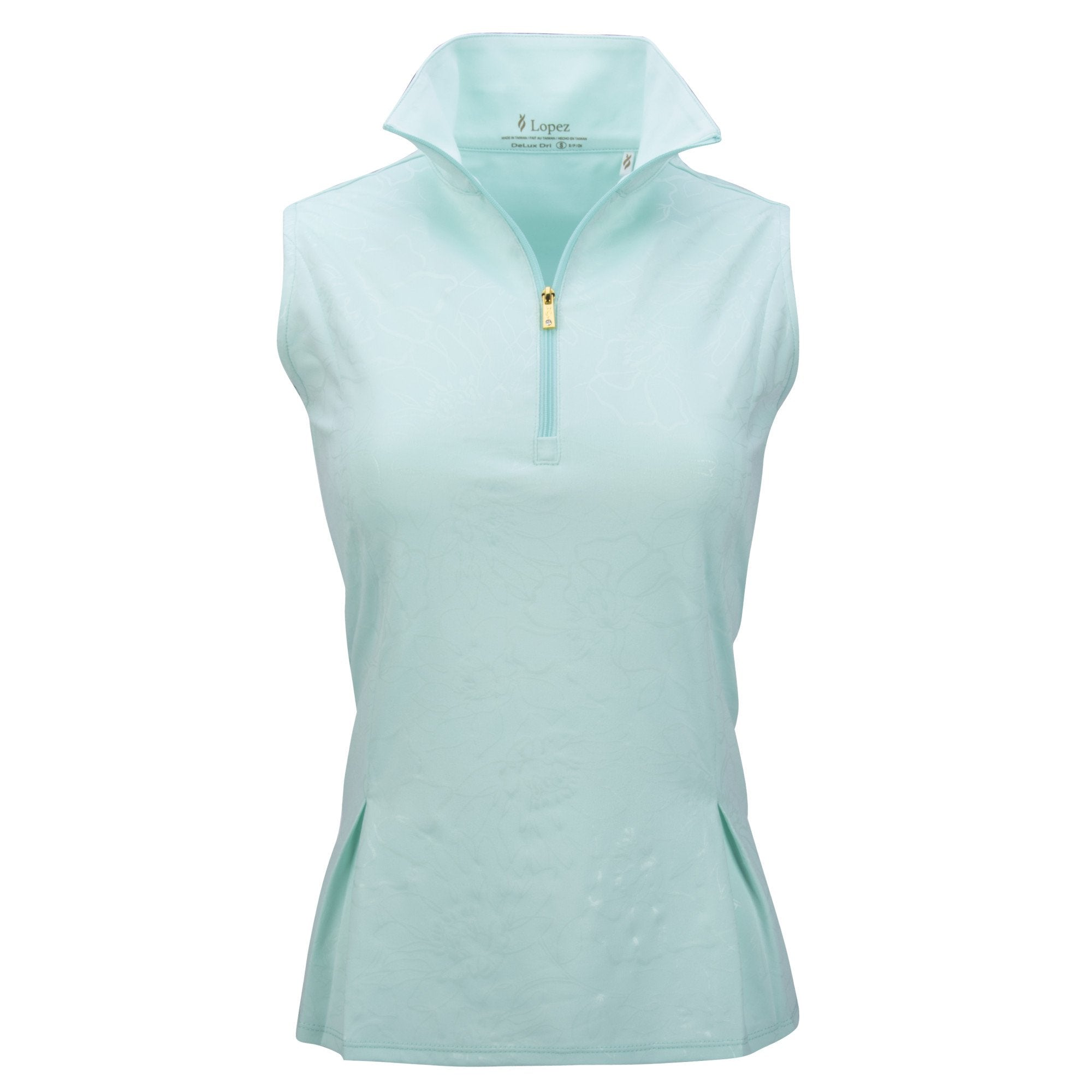 Nancy Lopez Shine Sleeveless Polo Plus Mist