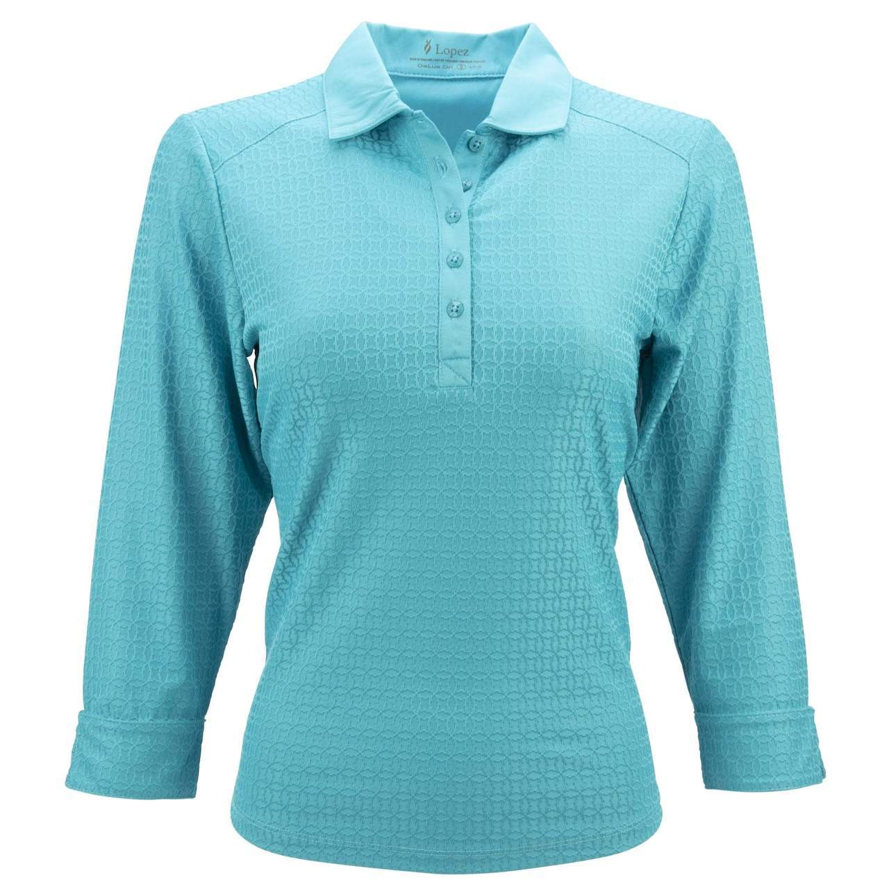 Nancy Lopez Journey 3/4 Sleeve Polo