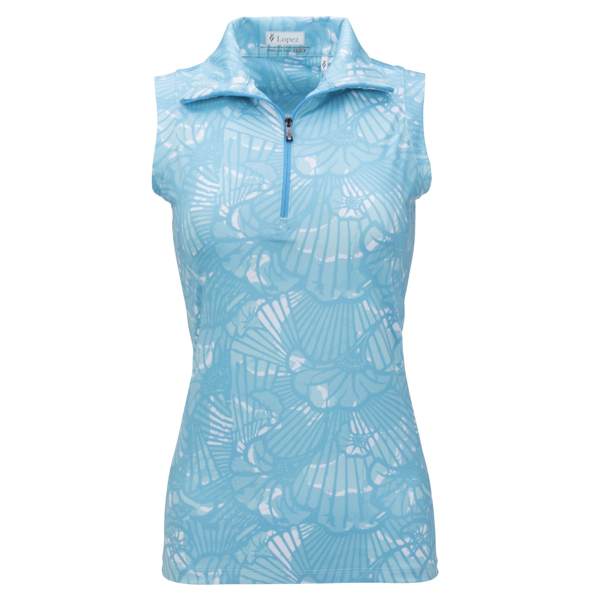 Nancy Lopez Wave Sleeveless Polo Plus Peacock Multi