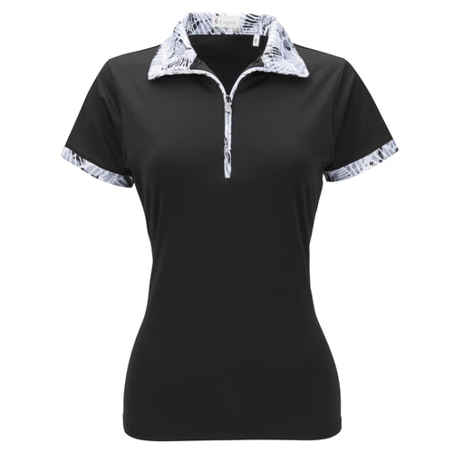 Nancy Lopez Fever Short Sleeve Polo Plus Black Multi