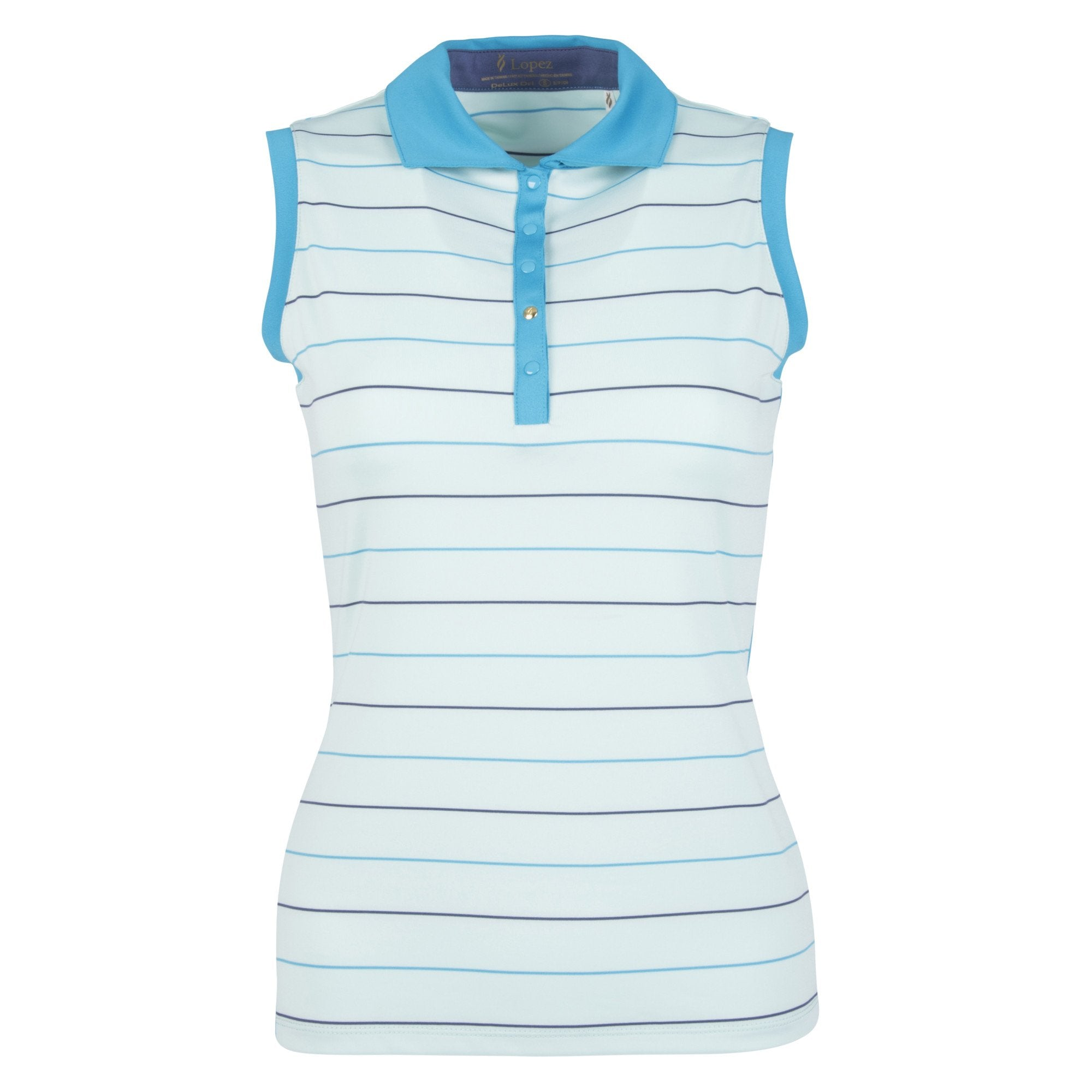Nancy Lopez Dream Sleeveless Polo Plus Mist Multi