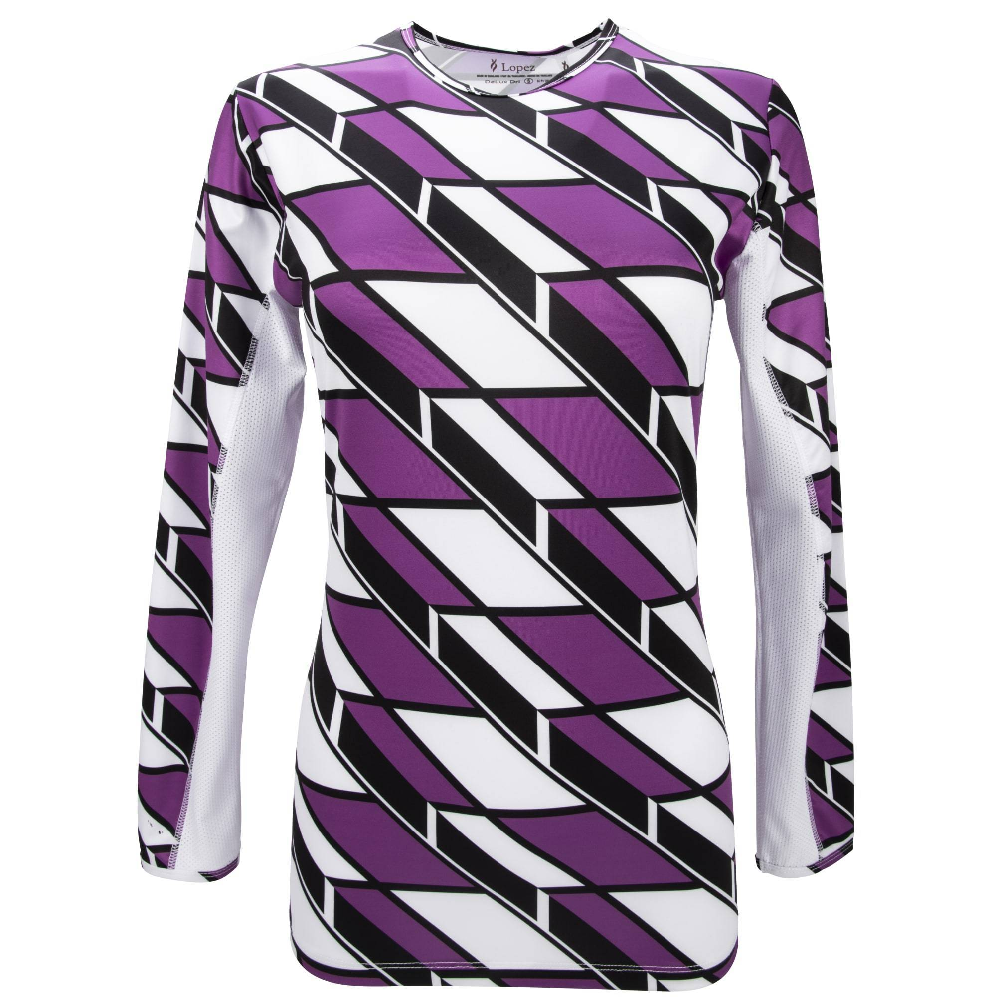 Nancy Lopez Aspiration Long Sleeve Tee Plus White Multi