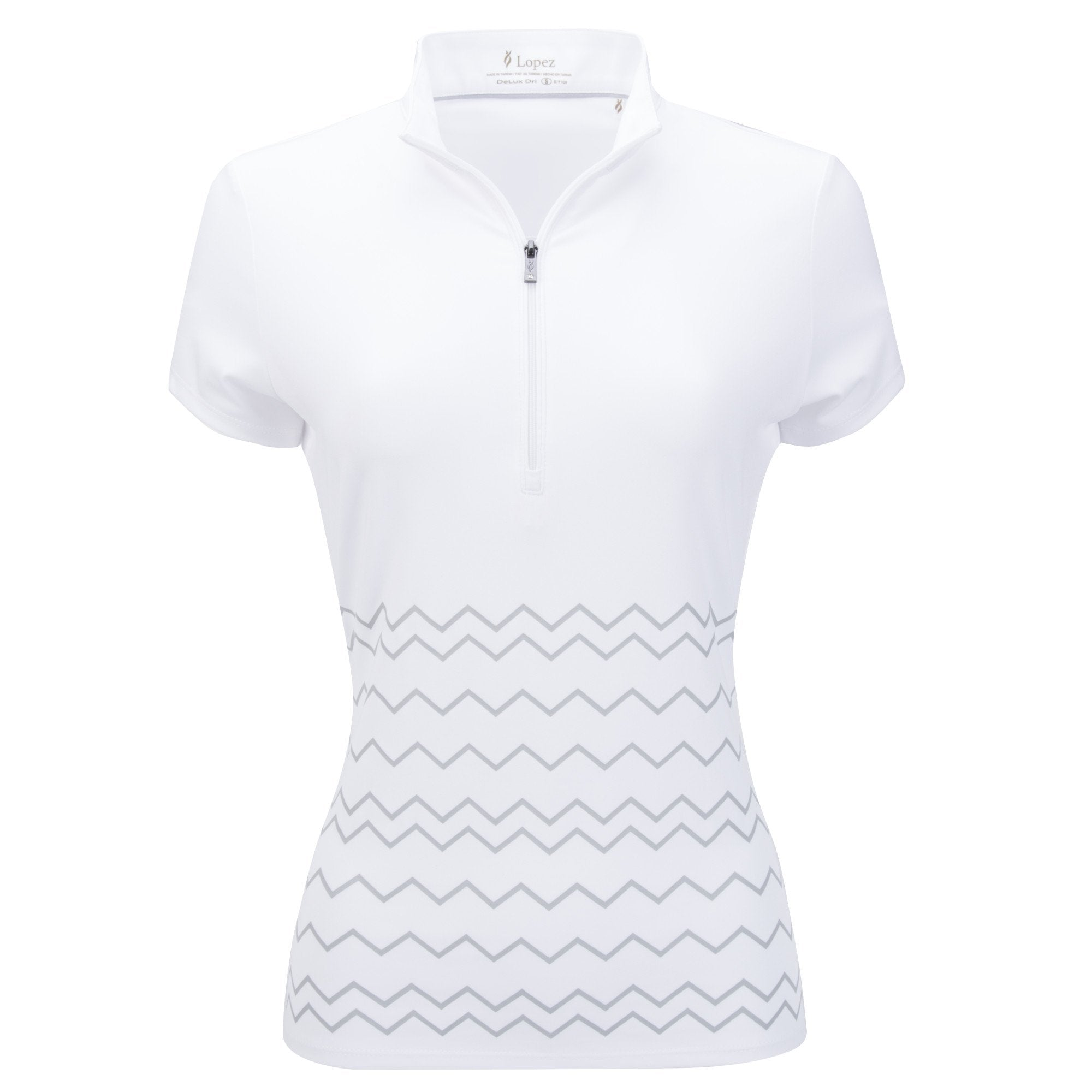 Nancy Lopez Warrior Short Sleeve Polo Plus White/Silver
