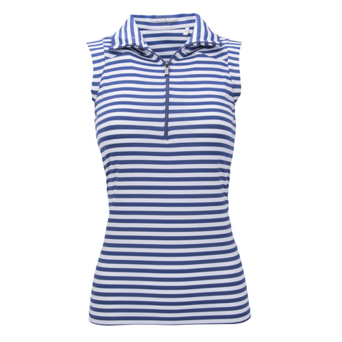 Nancy Lopez Flight Sleeveless Polo Plus Midnight/White