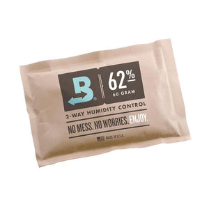 Boveda Humidity Control Pouch - 67 gram Sachet - 62% r/h - Single - Refined UK