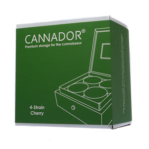 Cannador Humidor - Deluxe Dry Herb Storage - 4 Jar - Refined UK