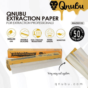 Qnubu Food Grade Extraction Paper - 30cm x 50 Sheet - Double Silicone - Refined UK
