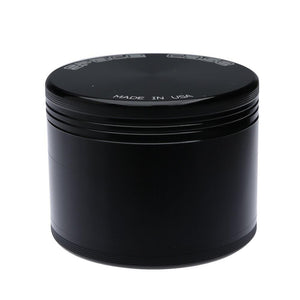 Space Case Herb Grinder - Titanium Black - 4 Part - Large - Refined UK