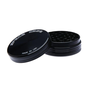 Space Case Herb Grinder - Titanium Black - 2 Part - Medium - Refined UK
