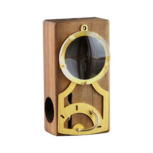 Magic Flight Launch Box - Portable Vaporizer - Monocle Edition Light Walnut - Refined UK