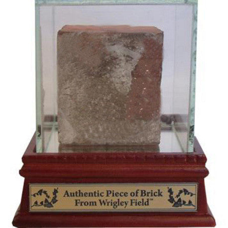 Chicago Cubs Wrigley Field Authentic Brick with Glass Display Case: Steiner COA