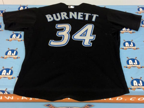 AJ Burnett Toronto Blue Jays Game Used Majestic Baseball Jersey: MLB Holo