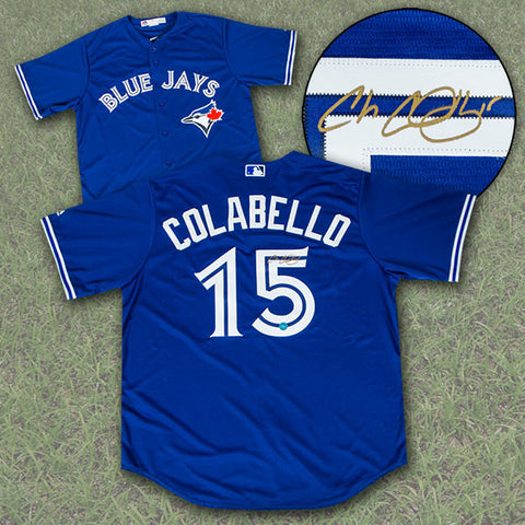 Chris Colabello Toronto Blue Jays Autographed Replica MLB Baseball Jersey