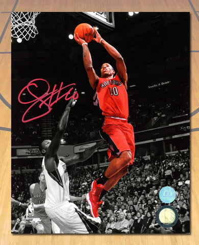 DeMar DeRozan Toronto Raptors Autographed Red Spotlight 8x10 Photo
