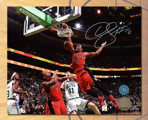 DeMar DeRozan Toronto Raptors Autographed Slam Dunk 8x10 Photo