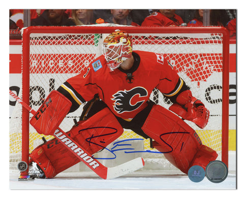 Brian Elliott Calgary Flames Autographed Hockey Goalie 11x14 Photo
