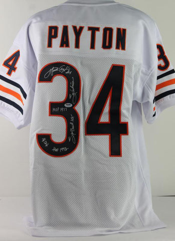 Bears Walter Payton Authentic Signed Career Achievement Stat Jersey PSA/DNA