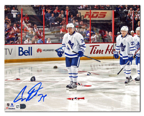 Auston Matthews Toronto Maple Leafs Autographed 1st Game 4 Goal 8x10 Photo