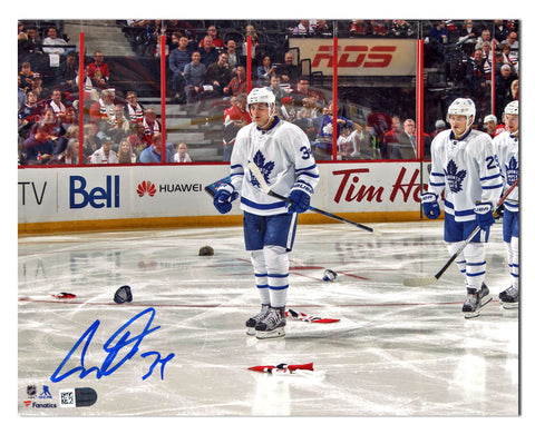 Auston Matthews Toronto Maple Leafs Autographed 1st Game 4 Goal 11x14 Photo