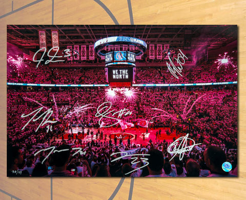 Toronto Raptors We The North 7 Player Signed 12x18 Photo: Derozan & Ross