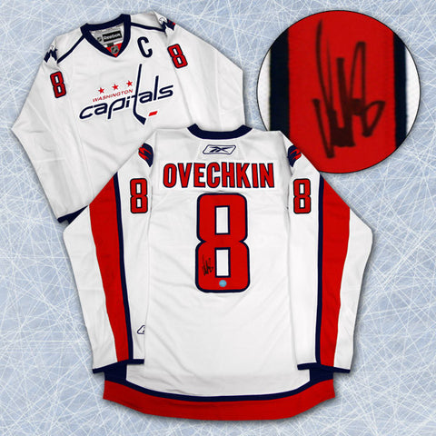 Alexander Ovechkin Washington Capitals Autographed White Premier Hockey Jersey