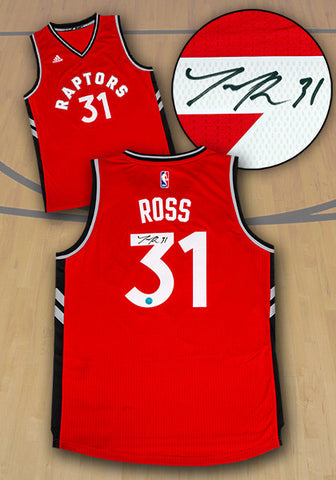 Terrence Ross Toronto Raptors Autographed Adidas Red NBA Swingman Jersey