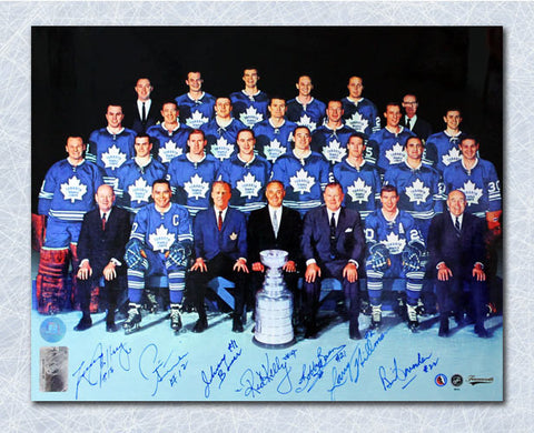 1967 Toronto Maple Leafs Stanley Cup Championship 11x14 Photo - 7 Autographs