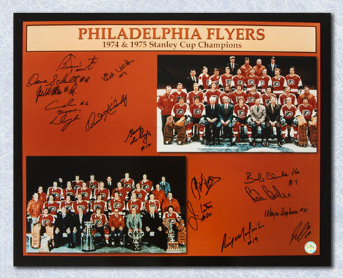 1974-75 Philadelphia Flyers Team Signed Stanley Cup 16x20 Photo: 14 Autographs