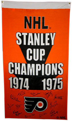 1974-75 Philadelphia Flyers Team Signed Stanley Cup Banner: 12 Autographs
