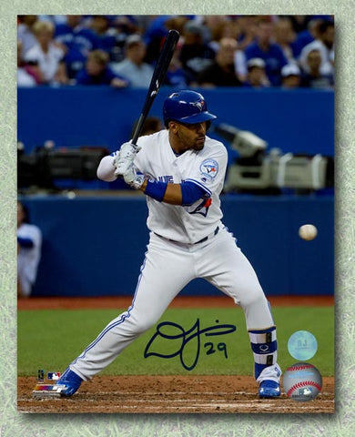 Devon Travis Toronto Blue Jays Autographed Batting White Jersey 8x10 Photo