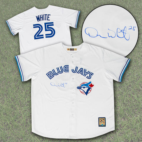 Devon White Toronto Blue Jays Autographed World Series Era Retro Baseball Jersey