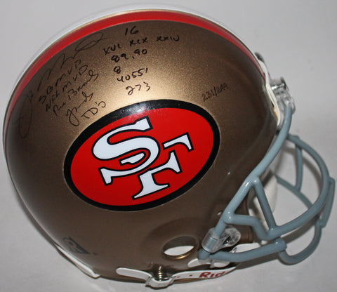 49ers Joe Montana Signed & Inscribed Authentic Full Size Helmet JSA