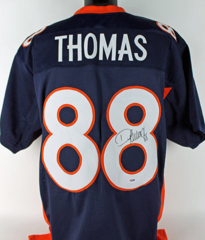 Broncos Demaryius Thomas Authentic Signed Blue Jersey Autographed PSA/DNA