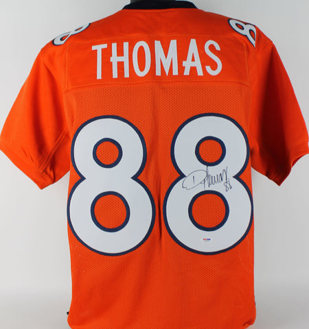 Broncos Demaryius Thomas Authentic Signed Orange Jersey Autographed PSA/DNA