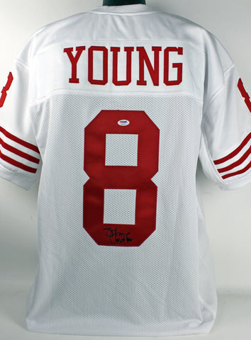 "49ers Steve Young ""HOF 05"" Authentic Signed White Jersey PSA/DNA"